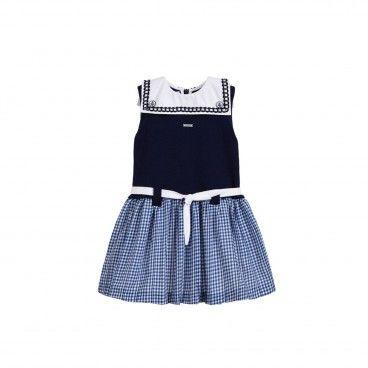 Vestido Menina Azul Foque