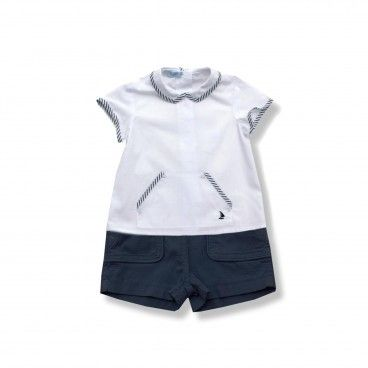 Boys Shirt & Blue Shorts Set