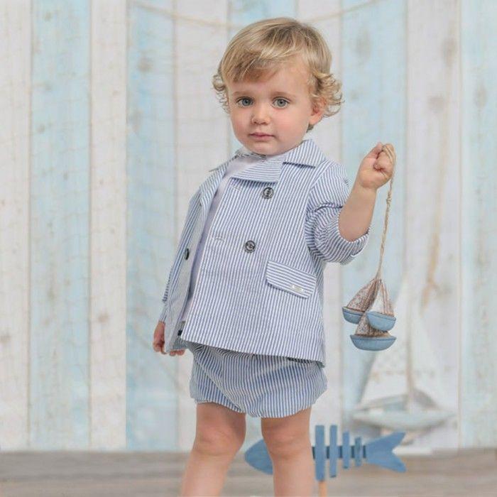 Boys Blue Cotton Blazer
