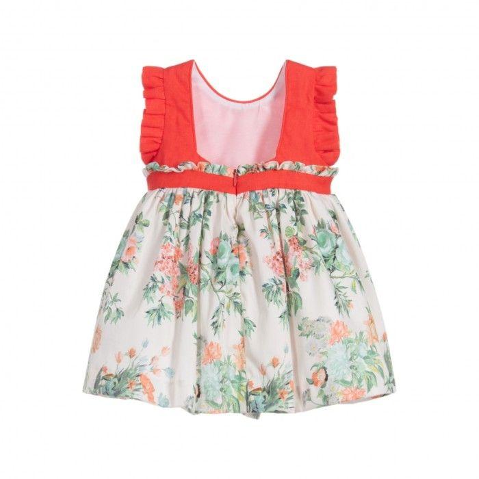 Vestido Menina Coral