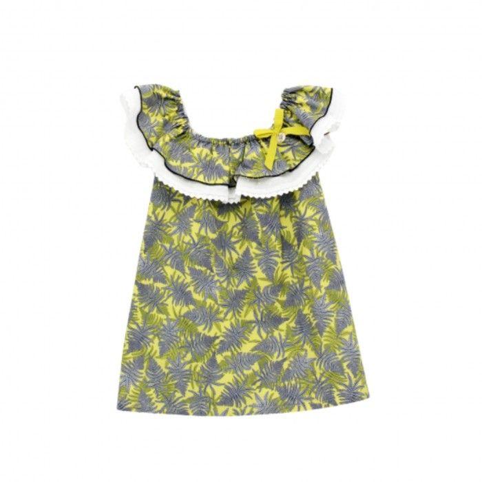 Lemon Floral Cotton Dress