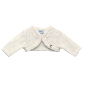 Girls Beige Knitted Bolero