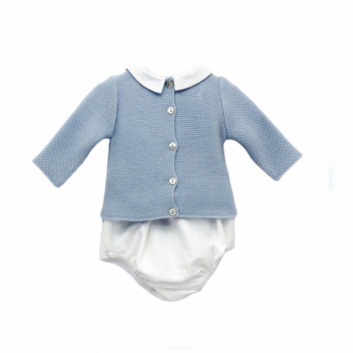 Blue Baby Boy Shorts Set