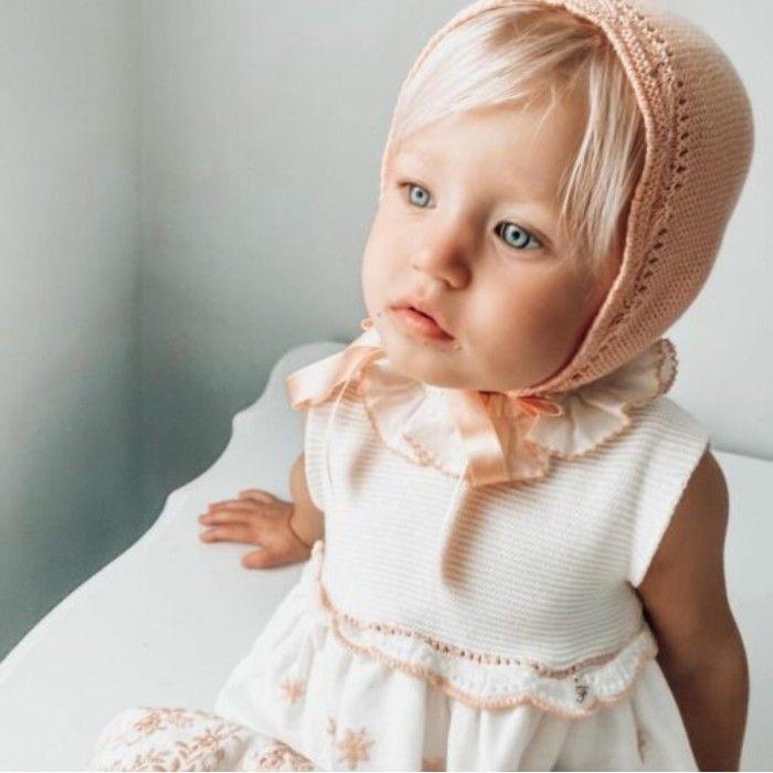 Conjunto Rosa Vestido & Touca