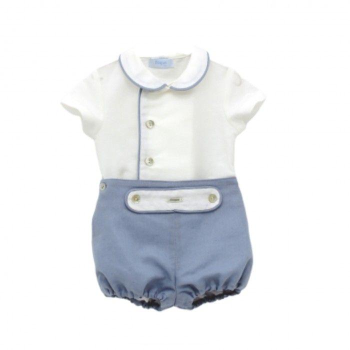 Blue Baby Boy 2 Piece Shorts Set