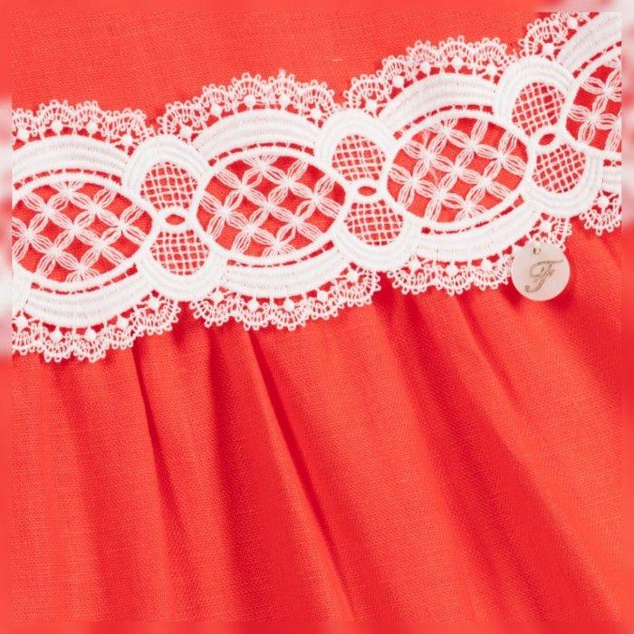 Foque Girls Pink Cotton Culottes Set
