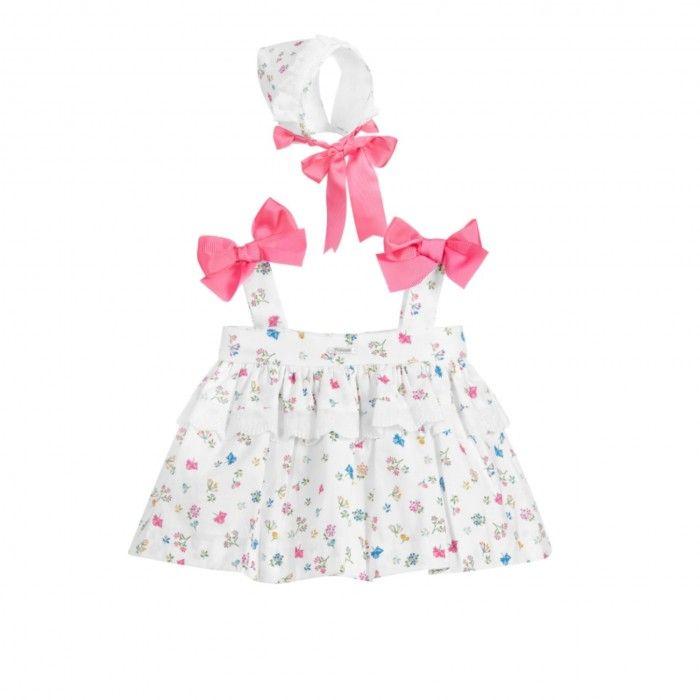 Girls Printed 3 Piece Dress Set