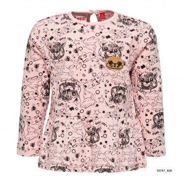 Sweatshirt Algodão Rosa Menina