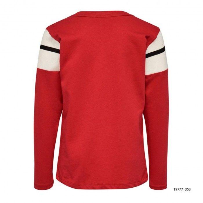 Sweatshirt Riscas Vermelha Texas