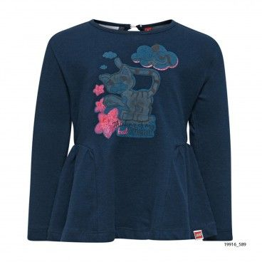 Blue Cotton Sweatshirt Thea