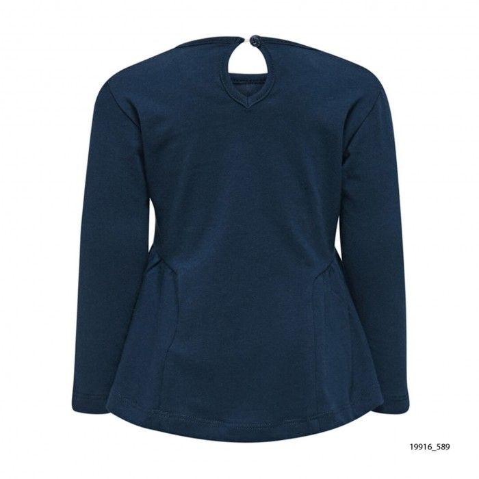 Sweatshirt Algodão Azul Thea