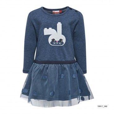 Girls Cotton Blue Dress