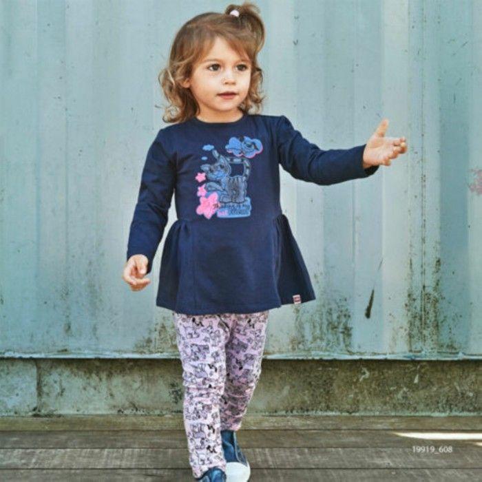 Girls Cotton Leggings Poppy