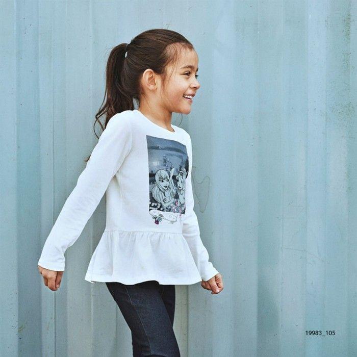 Sweatshirt Branca Algodão Menina