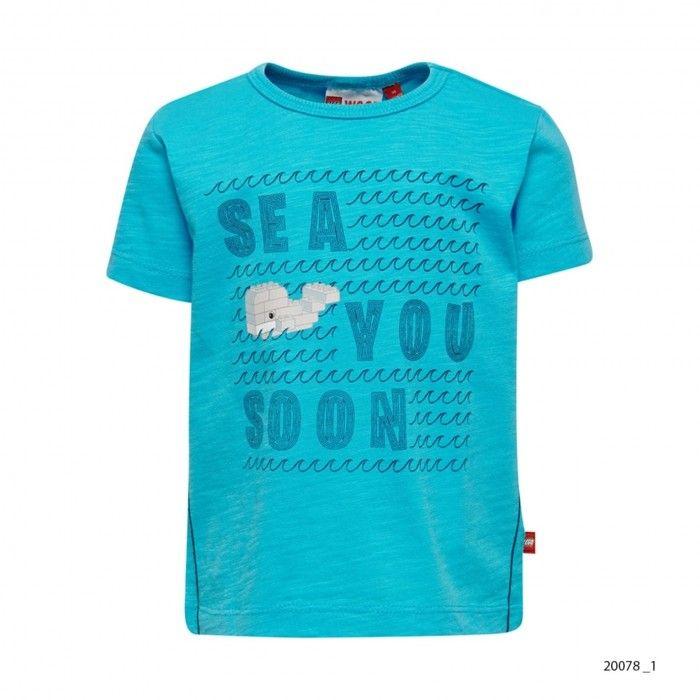 T-Shirt Menino Azul Turquesa