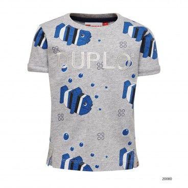 T-Shirt Algodão Menino Cinza