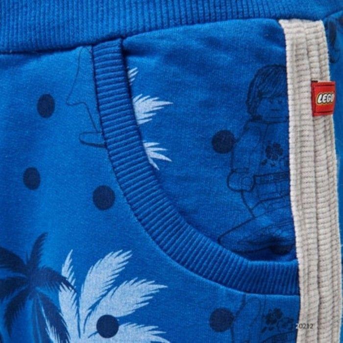 Calção Azul Floral Menino