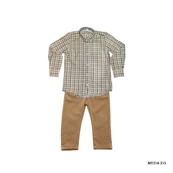 Conjunto Camisa Xadrez & Calça