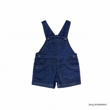 Jardineira Azul Bebé