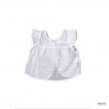 White Baby Dot Top