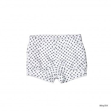 Navy Dot Shorts Girl