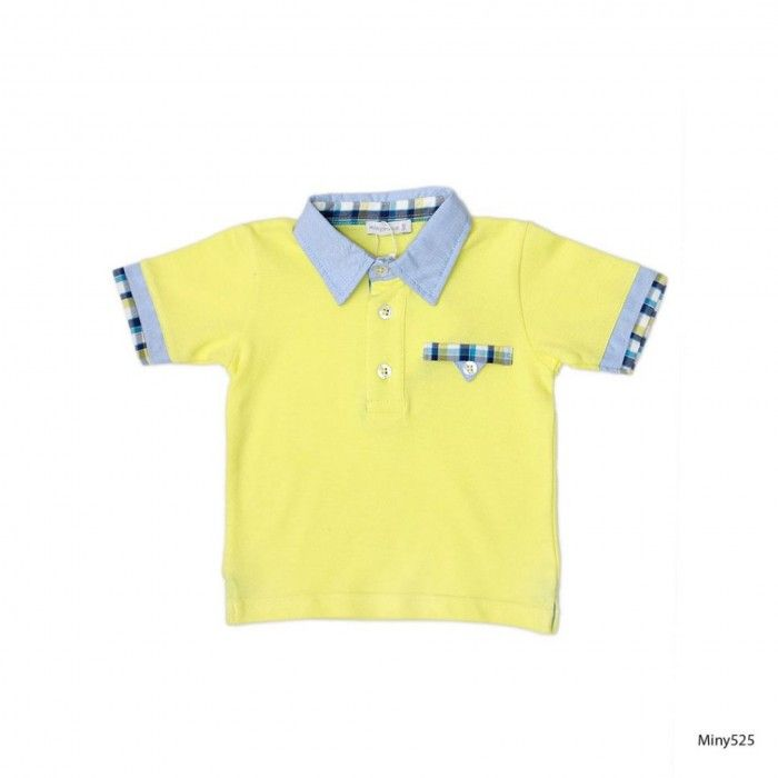 Polo Amarelo Mini Menino