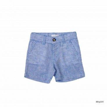 Blue Linen Shorts Mous