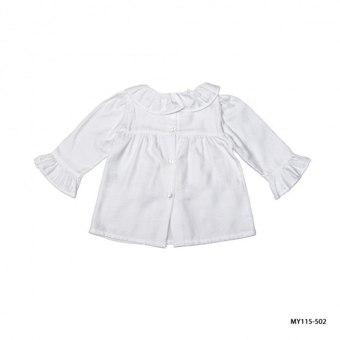 Blusa Branca Menina Minymous