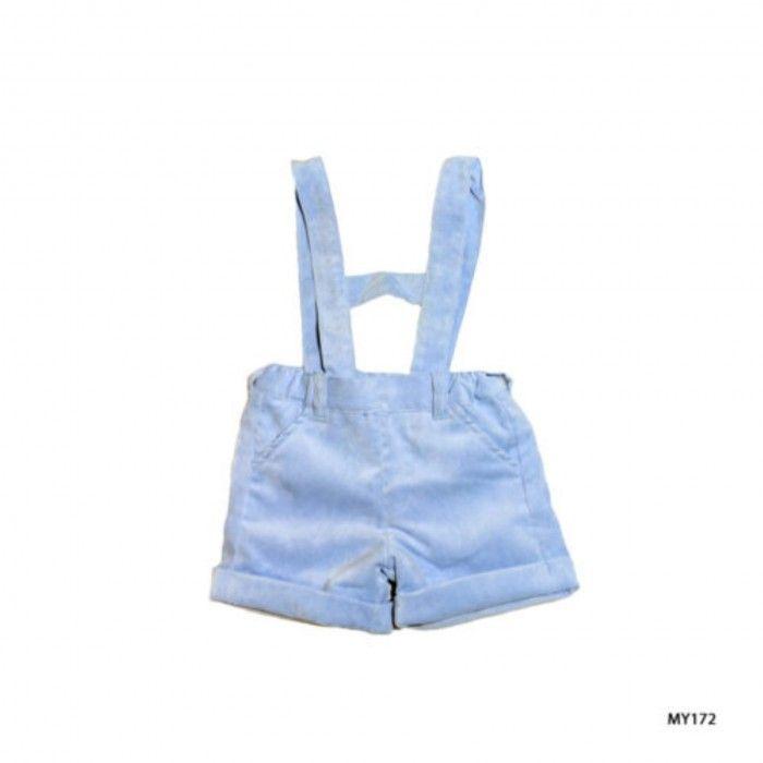 Blue Velvet Baby Shorts
