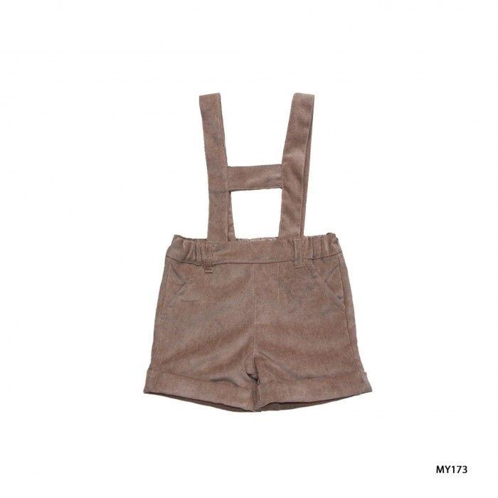 Beige Velvet Baby Shorts