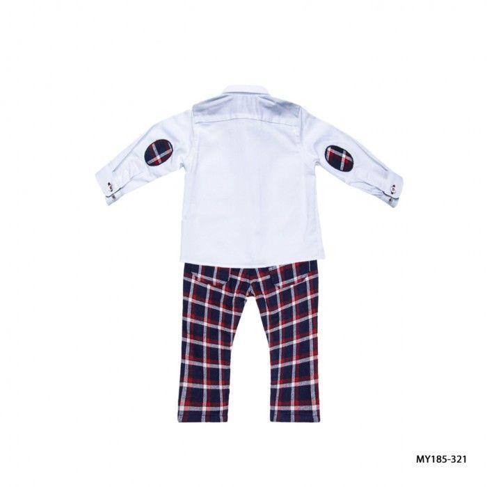 Conjunto Menino Tartan Camisa & Calças