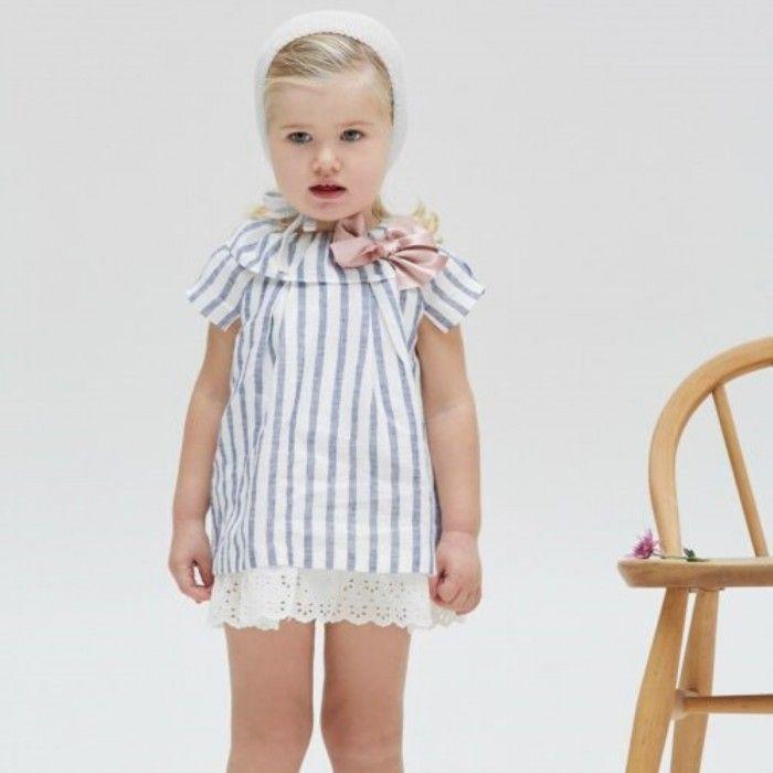 Baby Girls Striped Dress Set