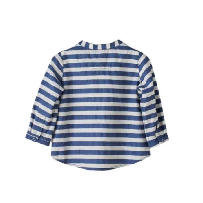 Camisa Riscas Branco & Marinho