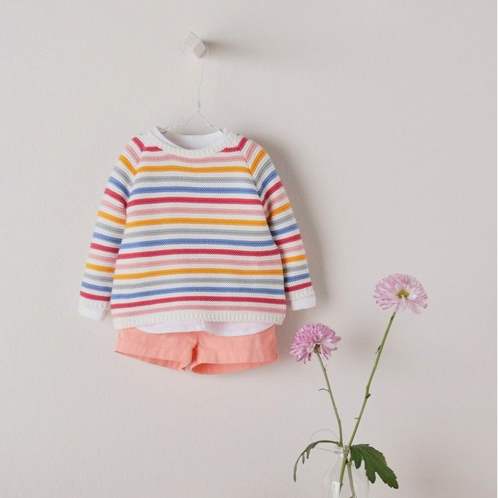 Boys Striped Knitted Cotton Sweater