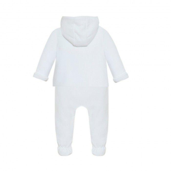 White Cotton Pram Coat Trousers