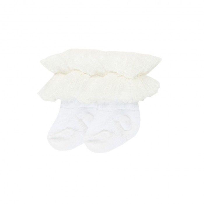 Baby Girl White Frilled Socks