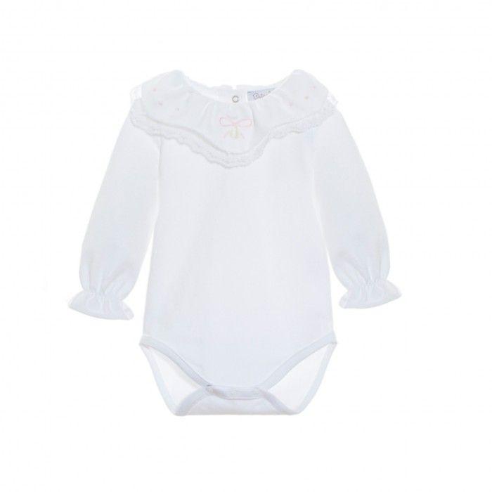 Patachou White Cotton Bodyvest