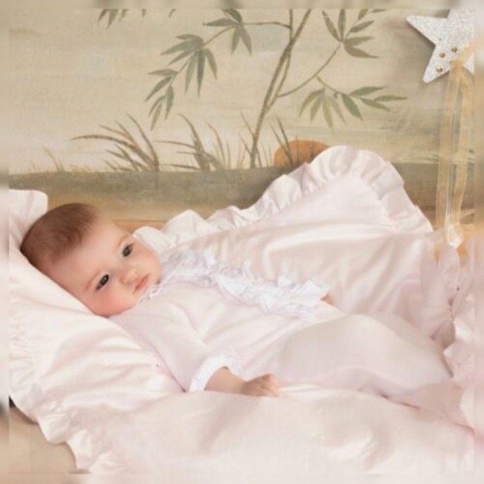 Babygrow Algodão Branco & Rosa Patachou