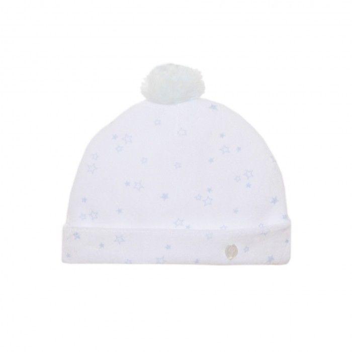 Blue Stars Velour Baby Hat