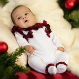 Babygrow Menina Red Tartan