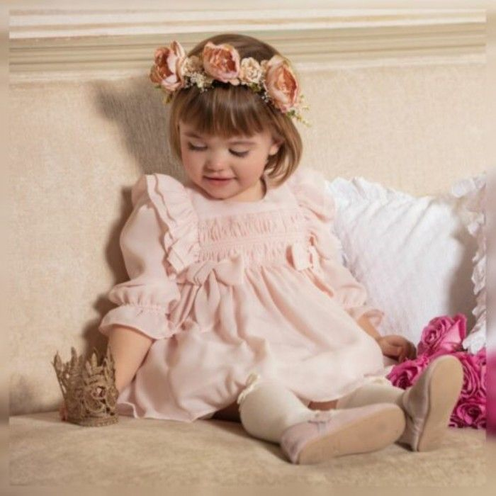 Vestido Crepe Rosa Patachou