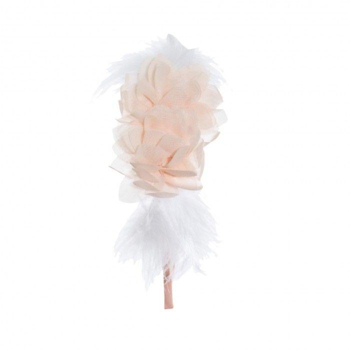 Pale Pink Flower Headband