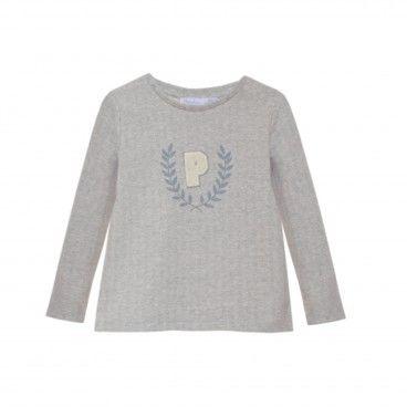 Mini Boy English Grey T-Shirt