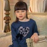 Vestido Menina Azul Patachou
