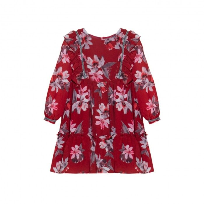 Vestido Floral Vermelho Patachou
