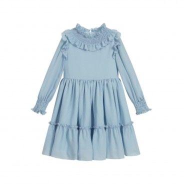 Vestido Chiffon Azul Artic Blue