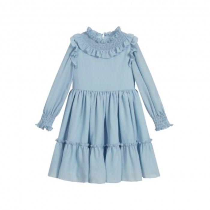 Girls Pale Blue Dress