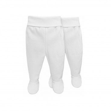 2 Pieces Pack Newborn White Cotton Leggings