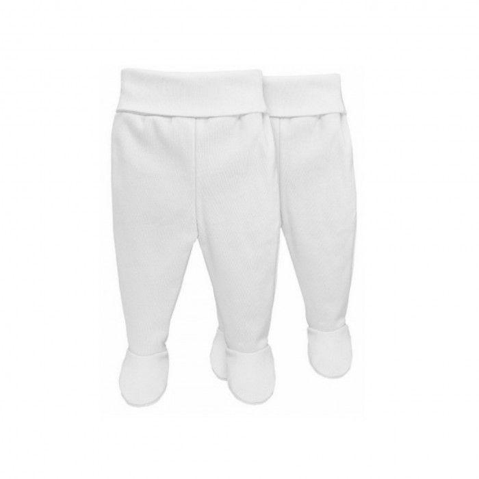 2 Pieces Pack Newborn White Cotton Leggings