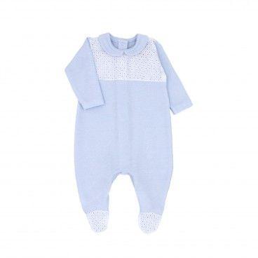 Boys Blue Cotton Babygrow